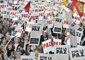 protesta por la paz